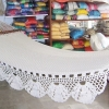 hamaca con barra algodon color crudo