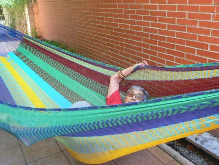 Ernestina en hamaca maya
