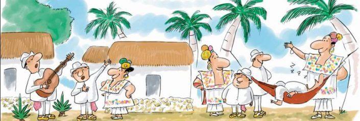 aldea maya y hamaca