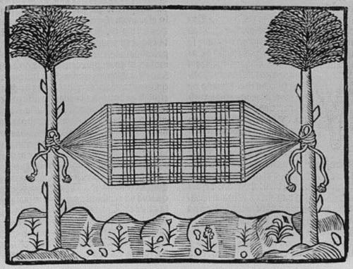 Ilustracion de hamaca