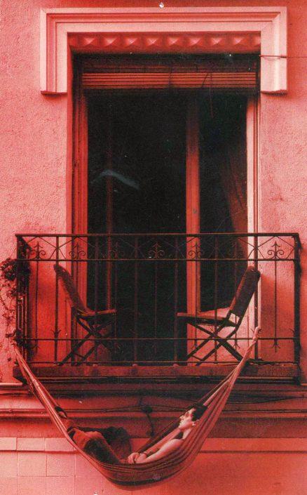 hamaca en balcón